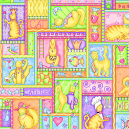 Meow Meow Patchwork Fabric