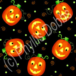 Tricks and Treats Halloween Fabric