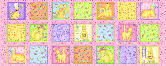 Meow Whimsy cat fabric