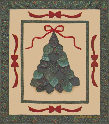 PD05 Christmas Tree Dimensional Quilt Phyllis Dobbs