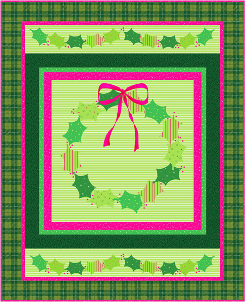 QD20 Holly Christmas Quilt