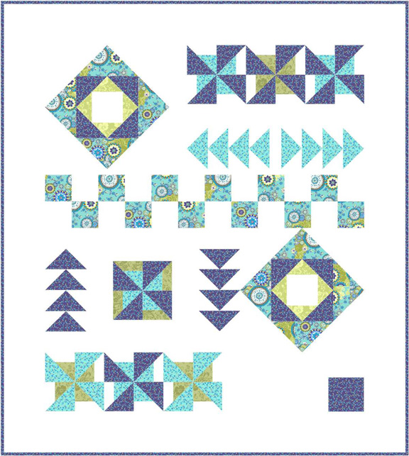 PD16 Bohemian Travels Modern Quilt