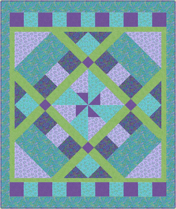 PD17 Windmill Quilt Pattern