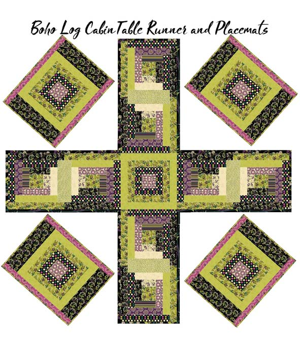 PD18 Quilt Table Runner 4 panels placemats
