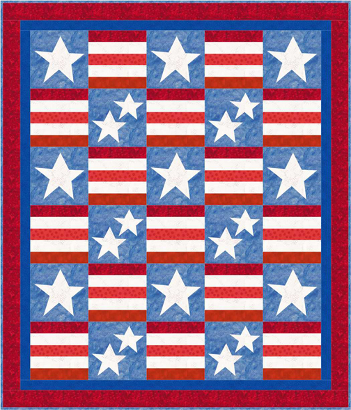 QD09_Stars_and_Stripes_Patriotism_Quilt