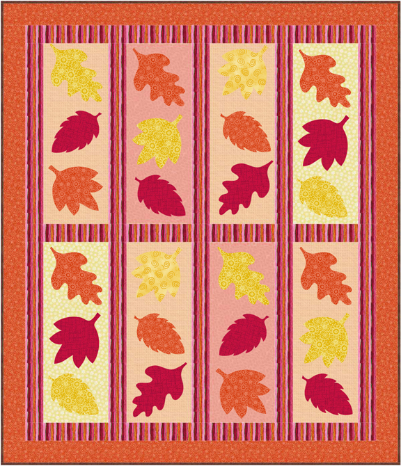 QD24 Falling Leaves Quilt Pattern