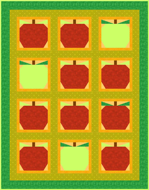 QD29 Fresh Apples Quilt