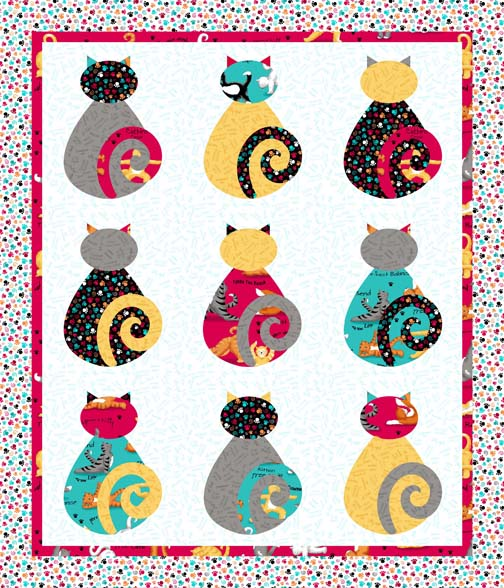 Kitty Cat Love Cheater Quilt PDobbs