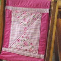 Pink Floral Quilted Chairback cover