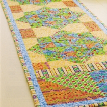 Tropical Summer Handmade Quilt Table Runner sm