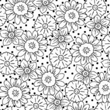 Black-white-floral