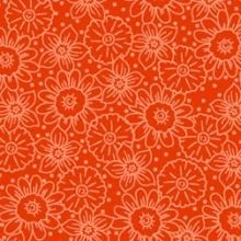 Orange-floral-tonal