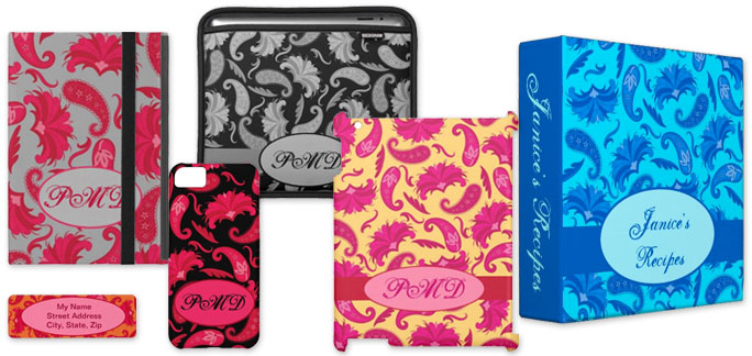 Products with Art Deco Paisley Art