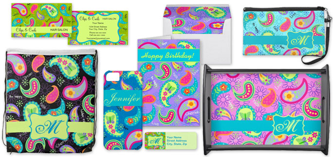 Products with Modern Whimsy Paisley Art