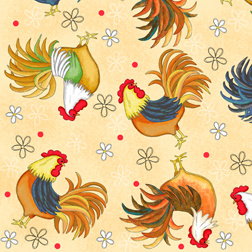Morning Wake Up Rooster Fabrics
