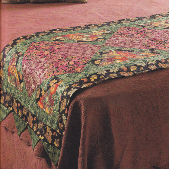 Autumn leaves Quilt Bed Runner