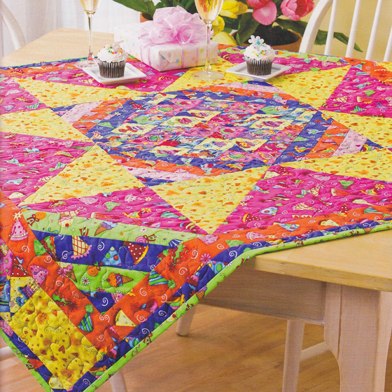 Birthday Quilted Table Topper