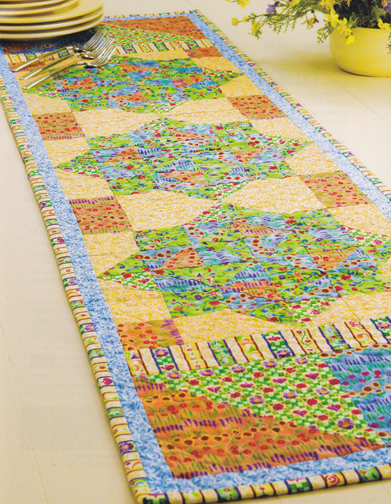 Tropical Summer Quilted Table Runner