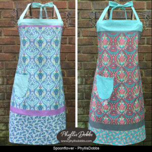 Cut and Sew Aprons Phyllis Dobbs Spoonflower
